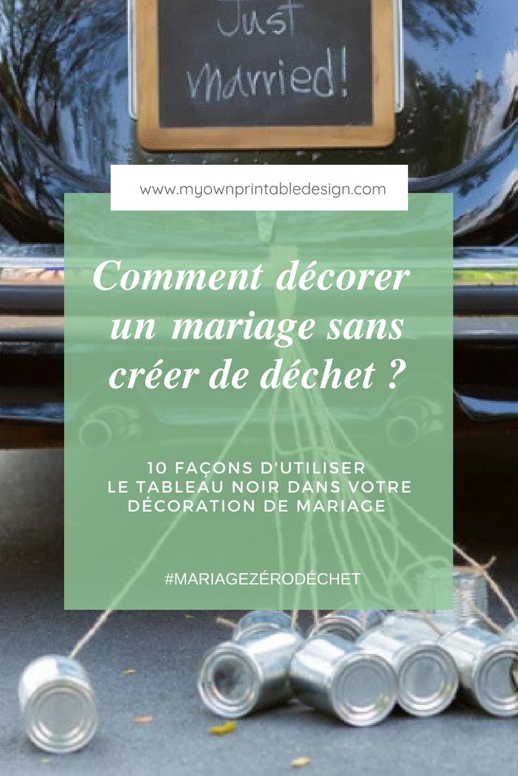 Comment décorer un mariage sans créer de déchet ? 10 façons d'utiliser le tableau noir dans votre décoration de mariage