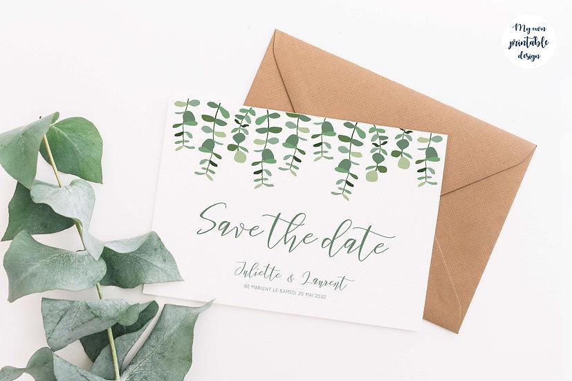 Save the date - Collection eucalyptus - Fichier numérique