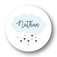 My own printable design, macaron des bébés à imprimer, collection nuage bleu