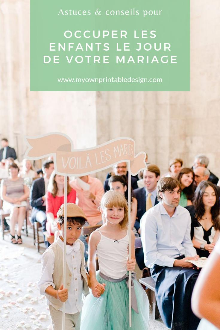 15 idées pour occuper les enfants le jour de votre mariage.