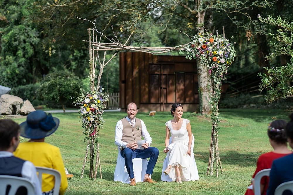 cérémonie laïque du mariage écoresponsable de L&Y. Crédit photo : Lena G