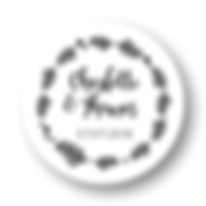 My own printable design, macaron des mariés à imprimer, collection feuillage noir