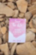 Save the date aquarelle rose, collection Pop Love sur des cailloux