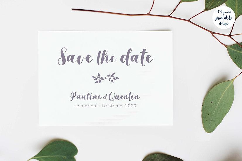 Save the date - Collection monochrome - Fichier numérique