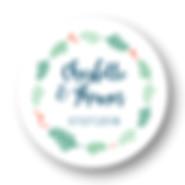 My own printable design, macaron des mariés à imprimer, collection feuillage bleu