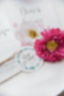 Faire-part mariage à imprimer collection feuillage, détail étiquette couronne de feuilles