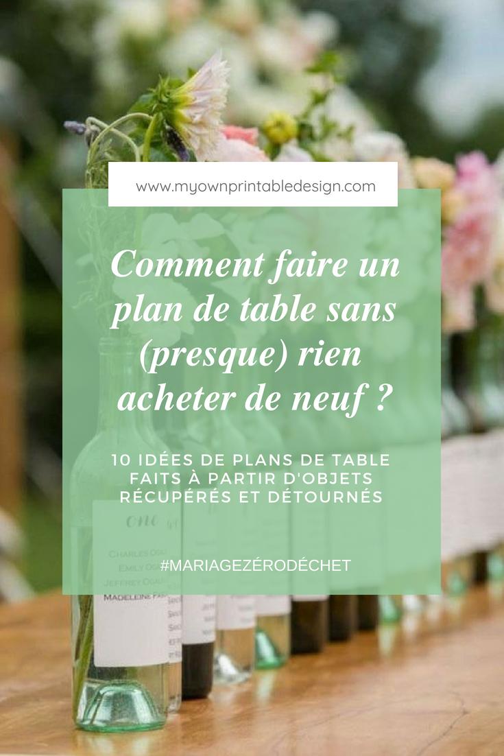 Comment faire un plan de table sans (presque) rien acheter de neuf ? 10 idées de plans de table faits à partir d'objets récupérés et détournés