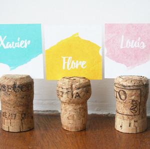 15 idées de décoration mariage avec des bouchons en liège