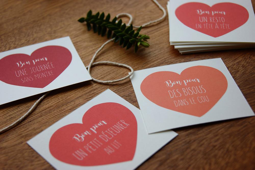 bon pour amoureux à imprimer - My own printable design