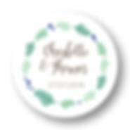 My own printable design, macaron des mariés à imprimer, collection feuillage taupe