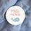 Thumbnail: Etiquette Merci rose - Collection Baleine - Fichier numérique