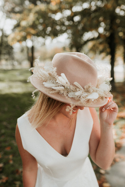 Chapeau mariage made in France