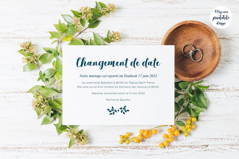Change the date - Collection monochrome - Fichier numérique
