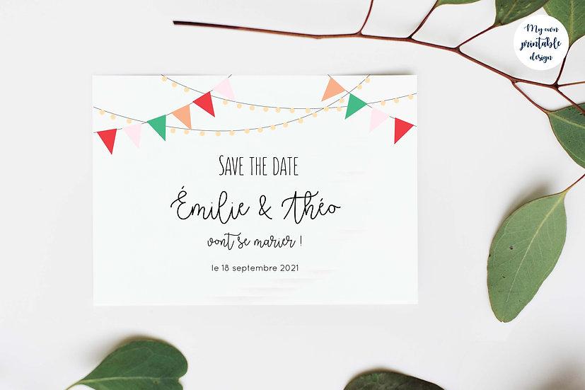 Save the date - Collection guinguette - Fichier numérique