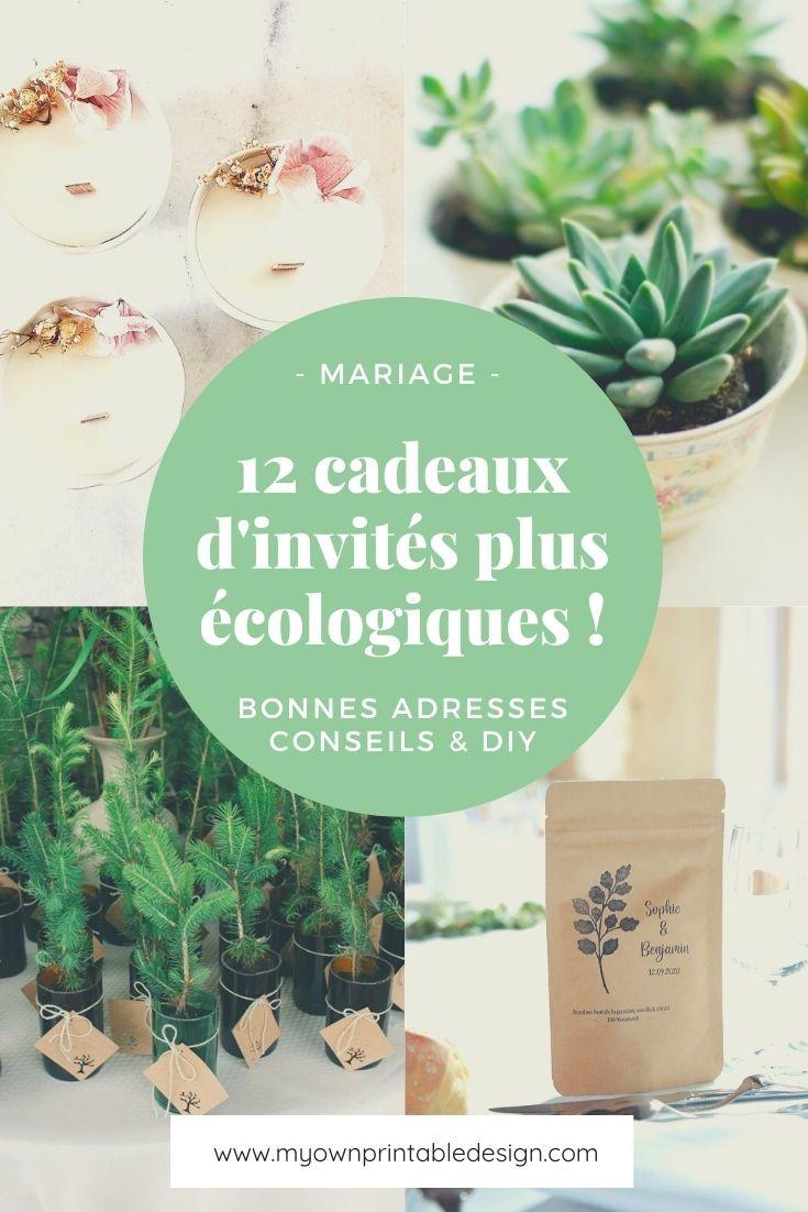12 cadeaux d'invités plus écologique pour votre mariage