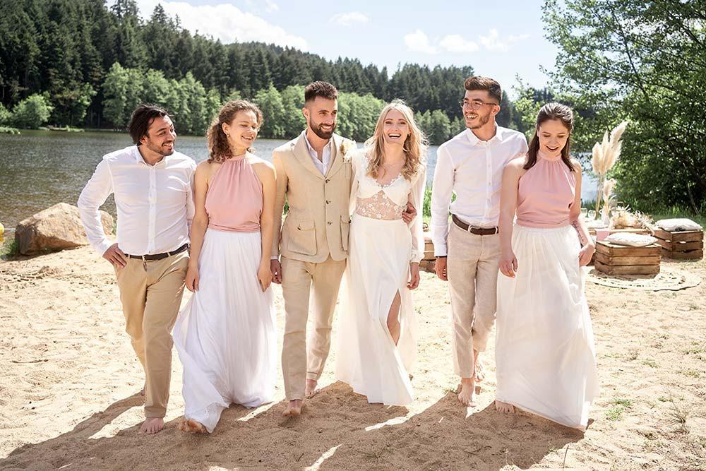 Mariage bohème chic à la plage près de Lyon