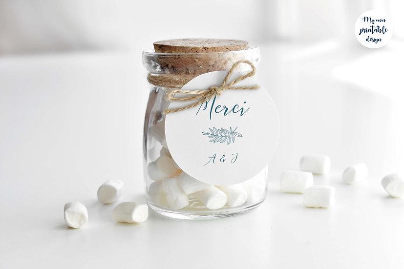 Logo et étiquette mariage - Collection délicatesse - fichier numérique