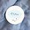 Thumbnail: Etiquette Merci bleu - Collection Nuage - Fichier numérique