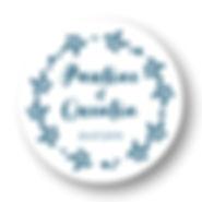 My own printable design, macaron des mariés à imprimer, collection monochrome bleu