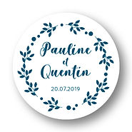 My own printable design, macaron des mariés à imprimer, collection monochrome bleu