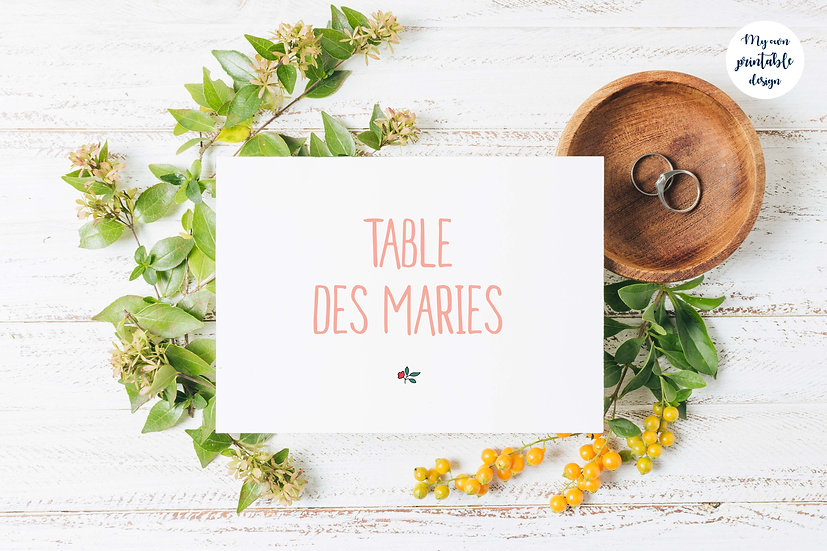 Marque table - Collection liberty - Fichier numérique