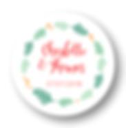 My own printable design, macaron des mariés à imprimer, collection feuillage rose