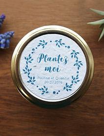 """étiquette pour cadeaux aux invités  imprimer """"plantez-moi"""", impression sur papier ensemencé pour un mariage zéro déchet"""