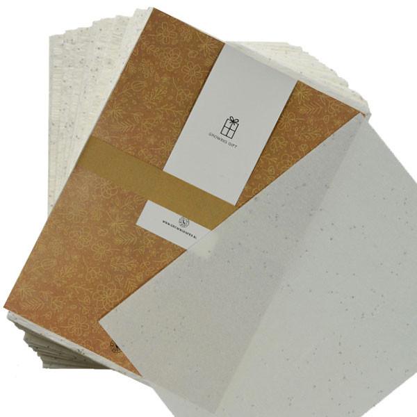 Papier ensemencé growing paper
