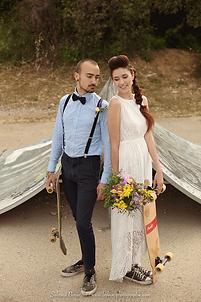 les mariés en skate