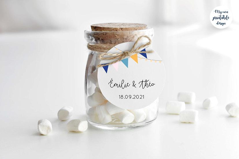 Logo et étiquette mariage - Collection guinguette - Fichier numérique