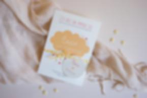 faire-part de naissance à imprimer, illustration nuage coloré, modèles fille garçon, personnalisés, My own printable design