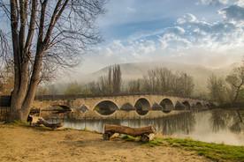 Ein Bild wie gemalt Die Burgauer Brücke  #203