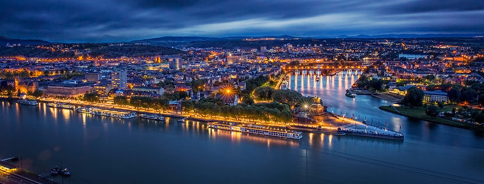 Koblenz Bilder Deutsches Eck Panorama Ka