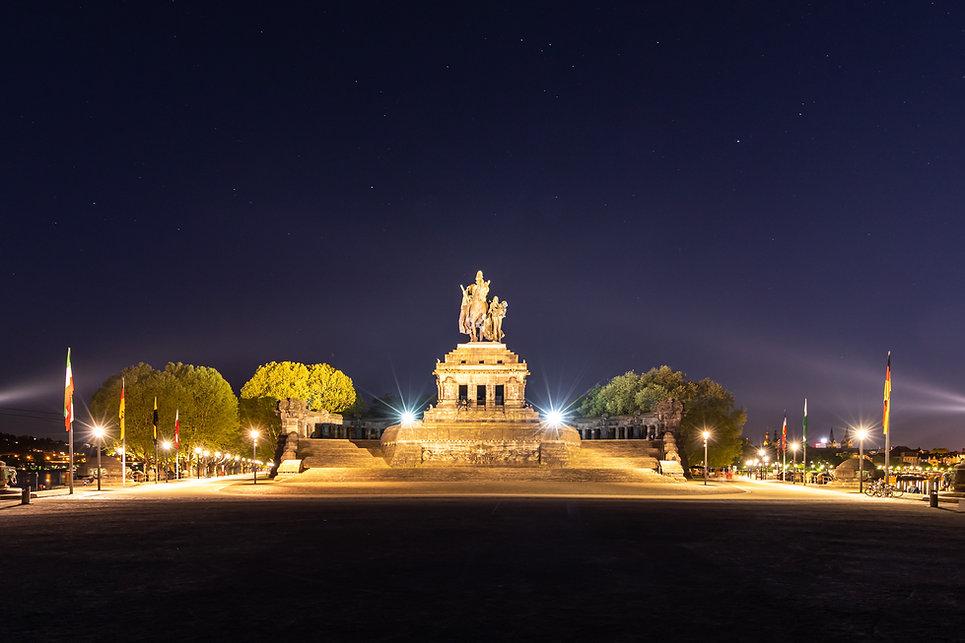 Koblenz Bilder Deutsches Eck bei Nacht F