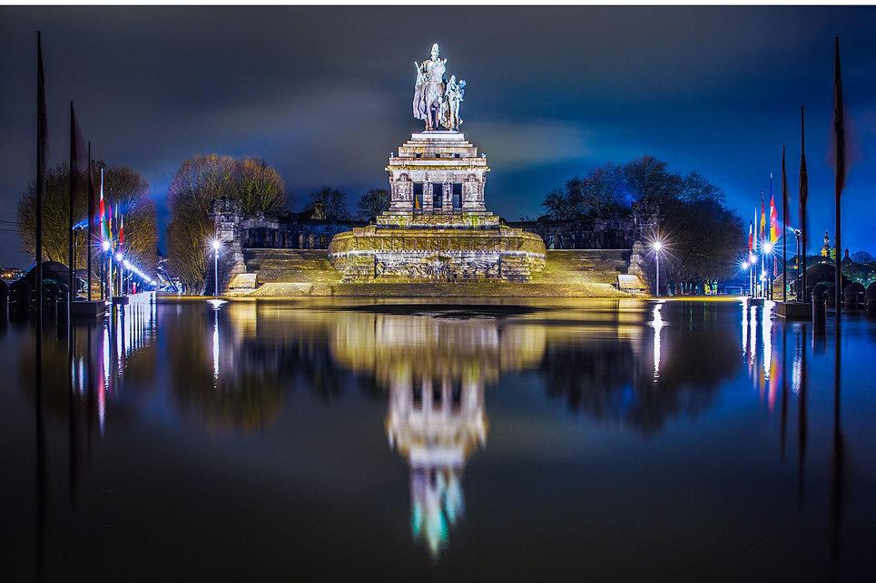 Koblenz Bilder Deutsches Eck Hochwasser
