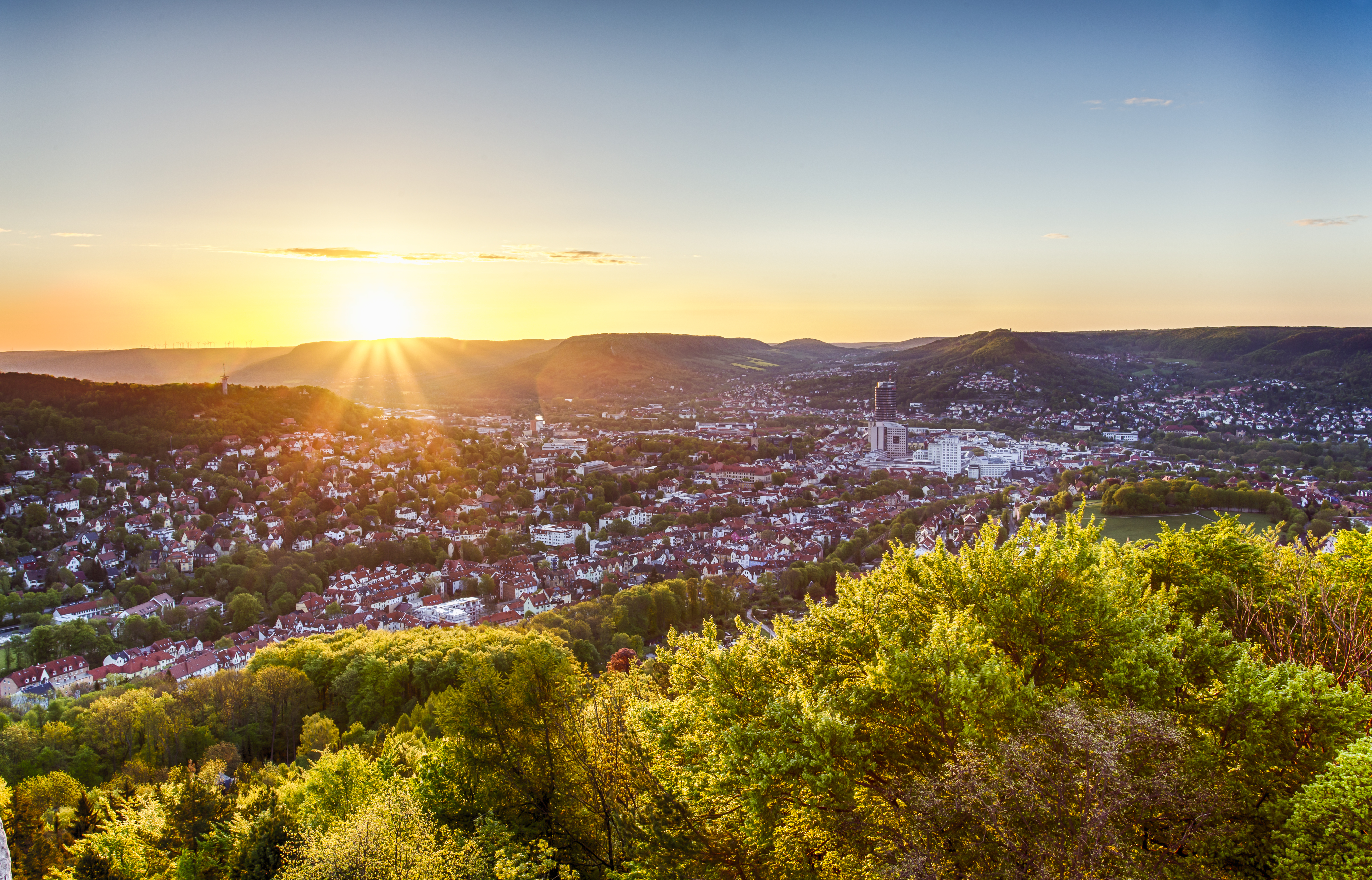 Blick über Jena vom Bismarckturm