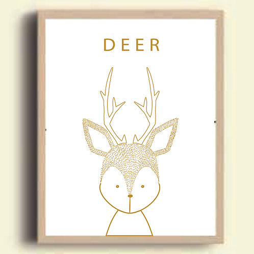 Cuadro decorativo Deer
