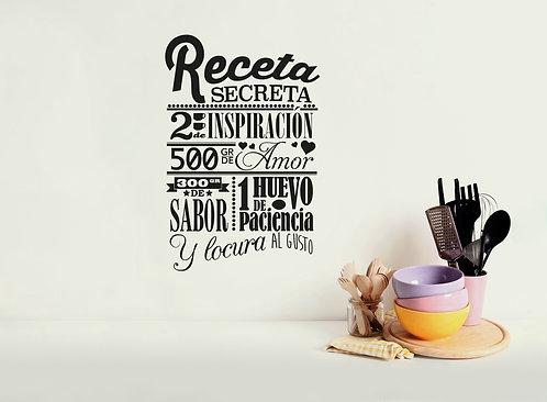 Vinilo Cocina Receta Secreta
