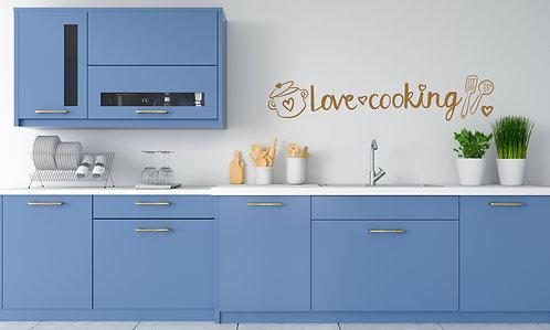 Vinilo Love Cooking