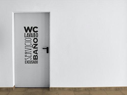 Vinilo Puerta WC Baño
