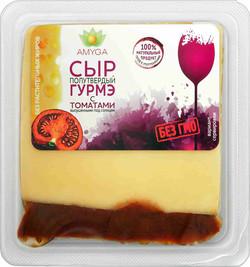 Сыр полутвердый «ГУРМЭ» с томатами50г