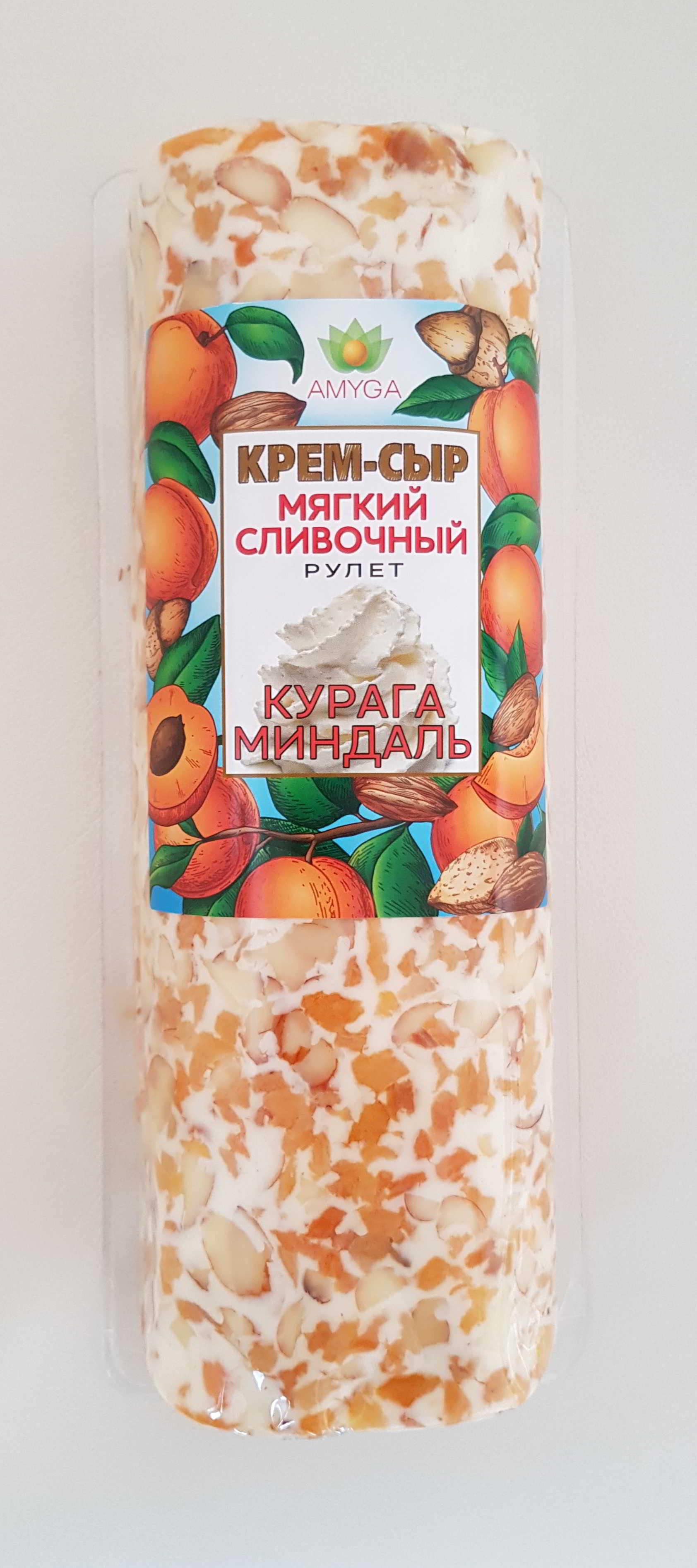 "Сыр мягкий сливочный ""КУРАГА - МИНДАЛЬ"" 120г"