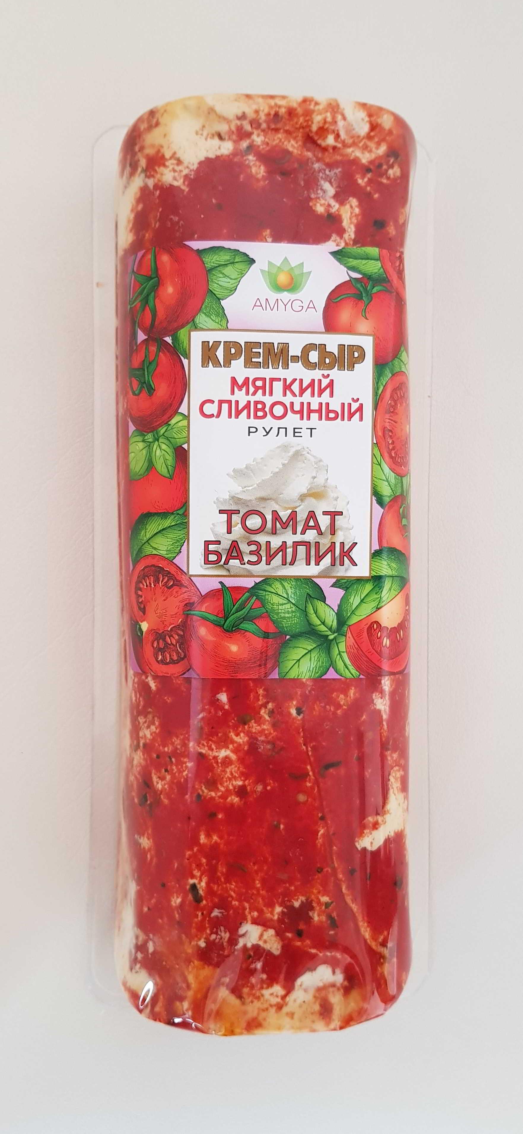 """Сыр мягкий сливочный """"ТОМАТ - БАЗИЛИК"""" 500г"""