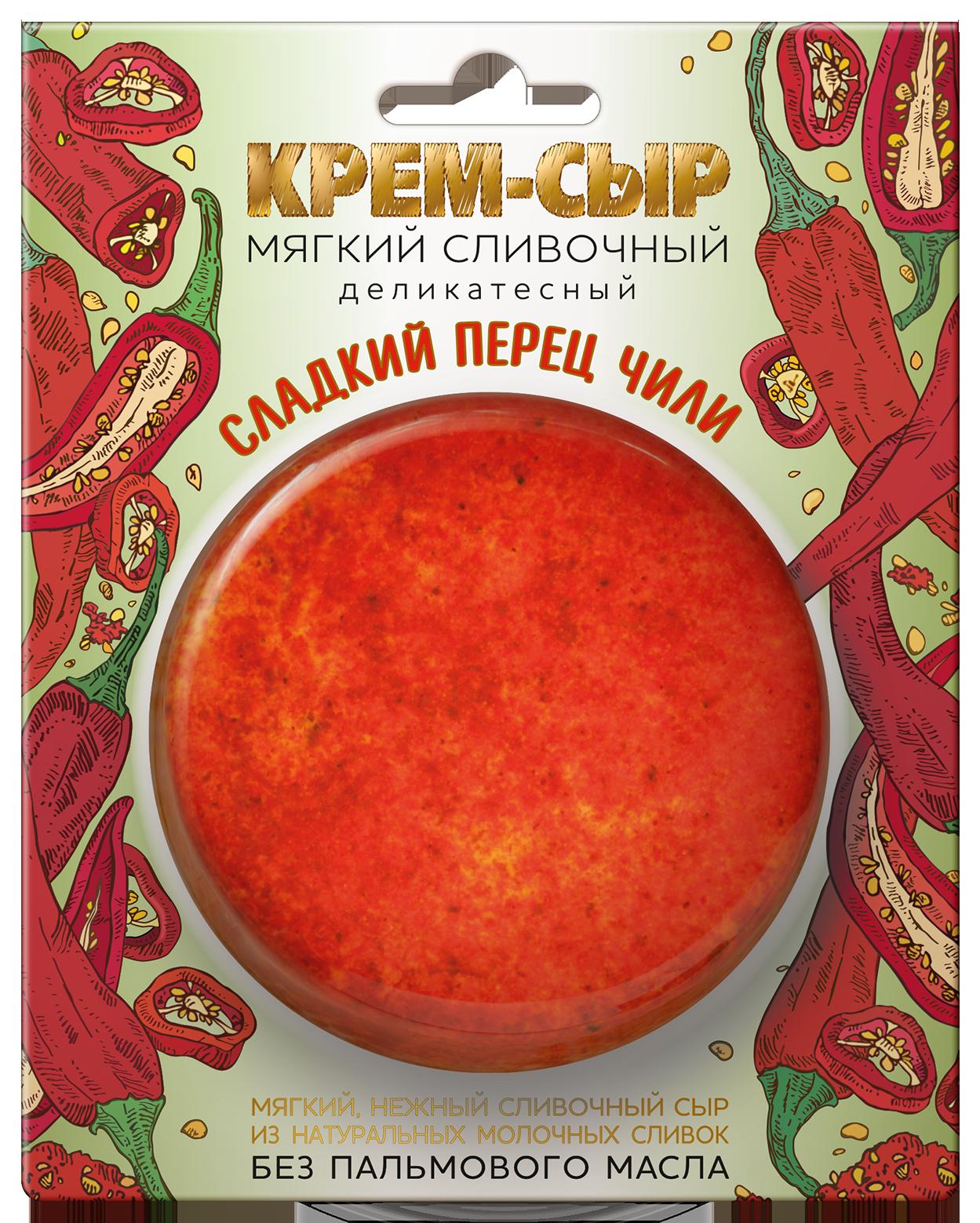 "Сыр мягкий сливочный ""СЛАДКИЙ ПЕРЕЦ ЧИЛИ"" 120г"