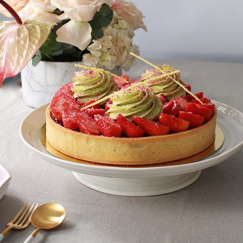 Pistachio Strawberry Tart