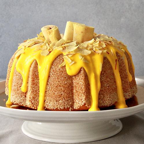 Saffron Crown Cake