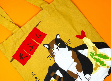 Friend's Hill Tote with Miyake-san the Cat