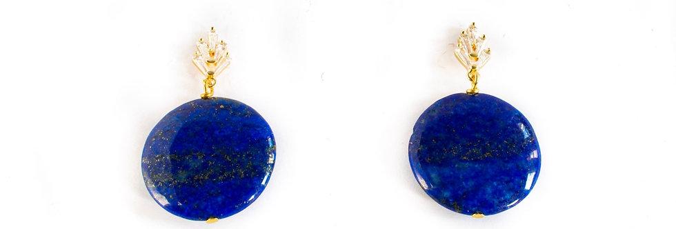 Lapis Lazuli Cubic Zirconia Drop