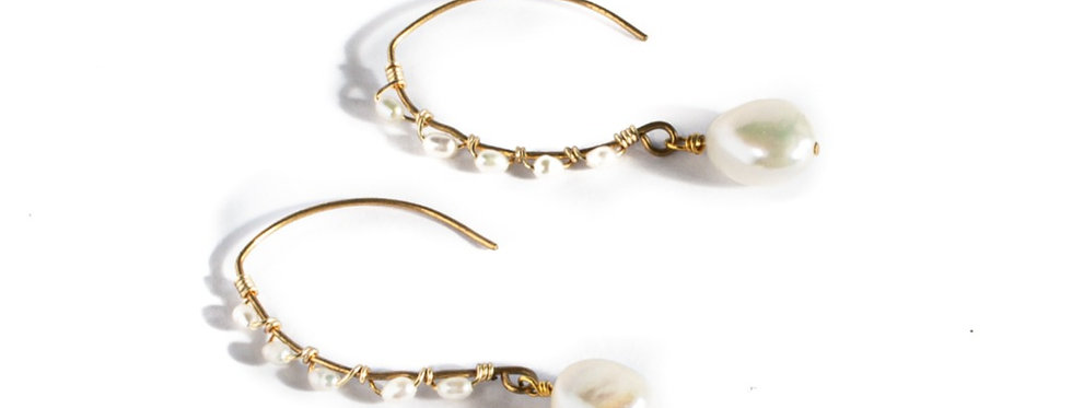 Freshwater Pearl Drop Gold