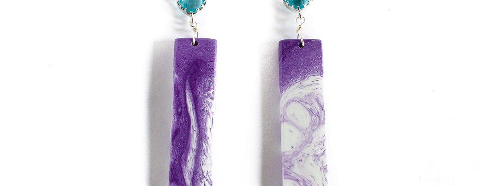 Purple/White Resin Drop